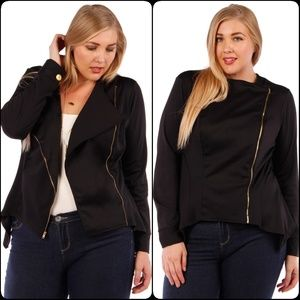 Jackets & Blazers - Stylish Women's Blazer Asymmetric Zipper design